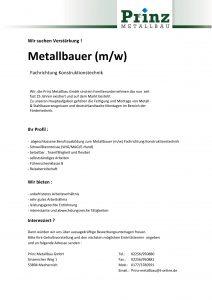 Metallbauer gesucht